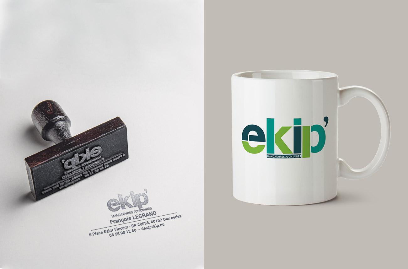 Création d'identité de marque - Ekip'