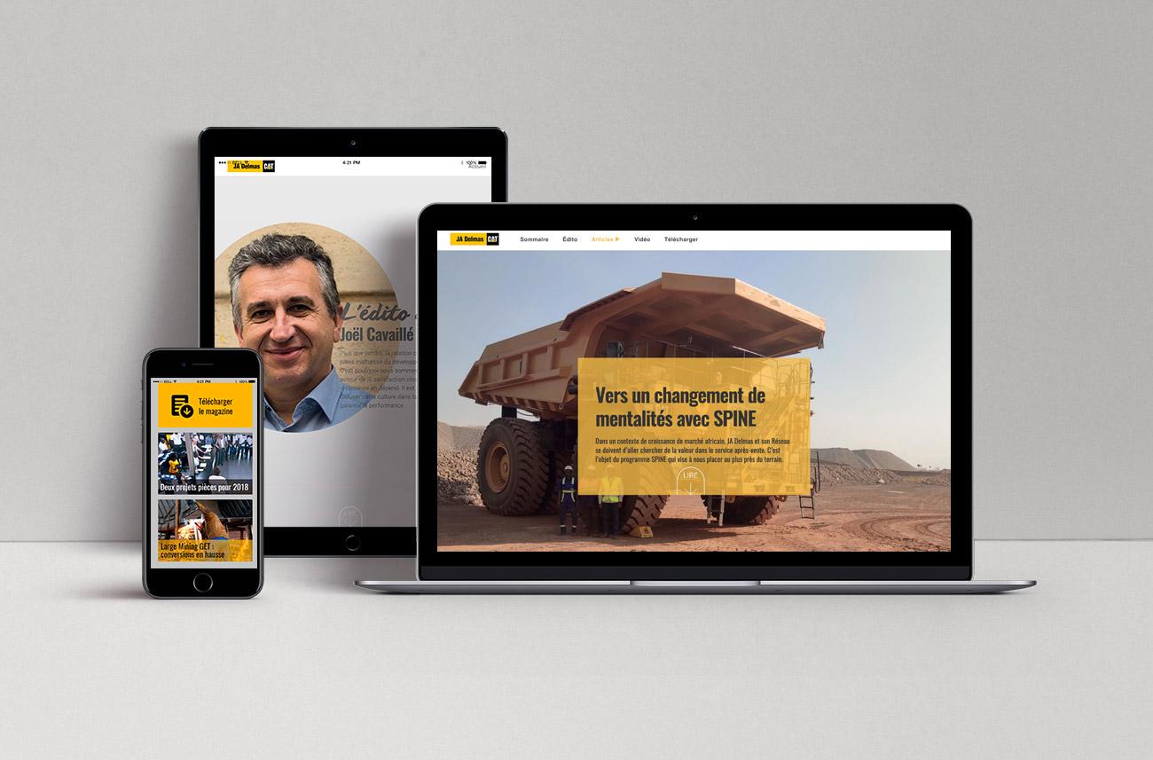 Rédaction et création de magazine digital - JA Delmas