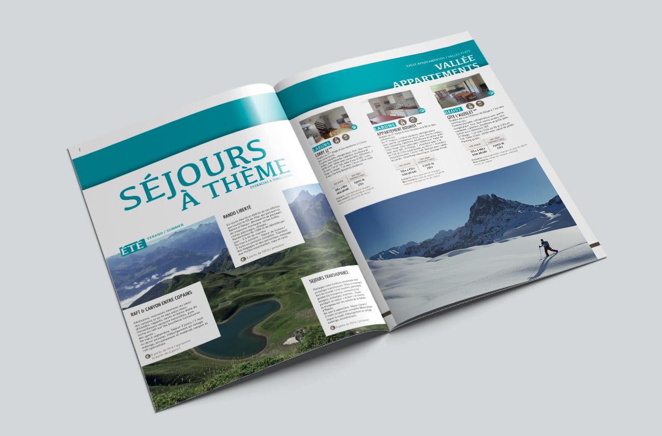 Identité visuelle et brochures - Office de tourisme de Laruns