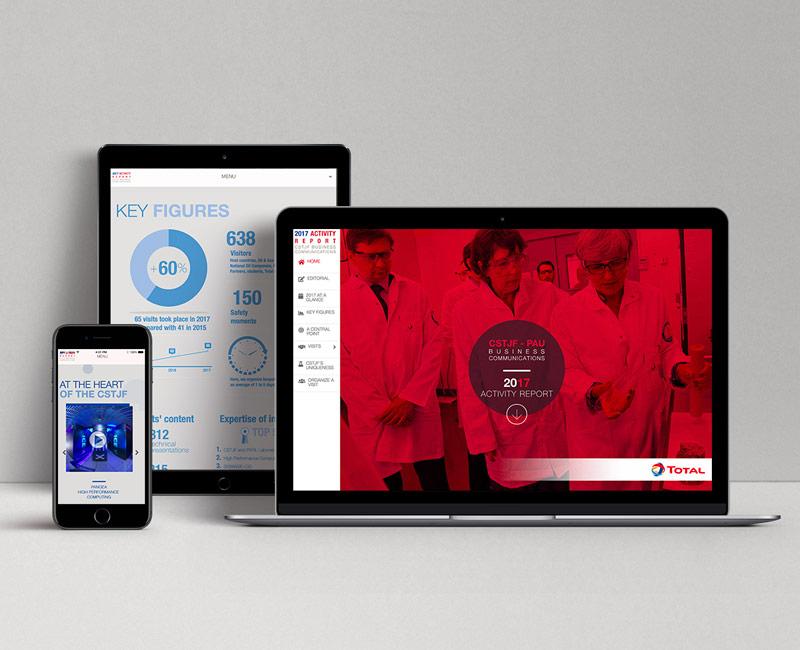 Total - Rapport d'activités digital