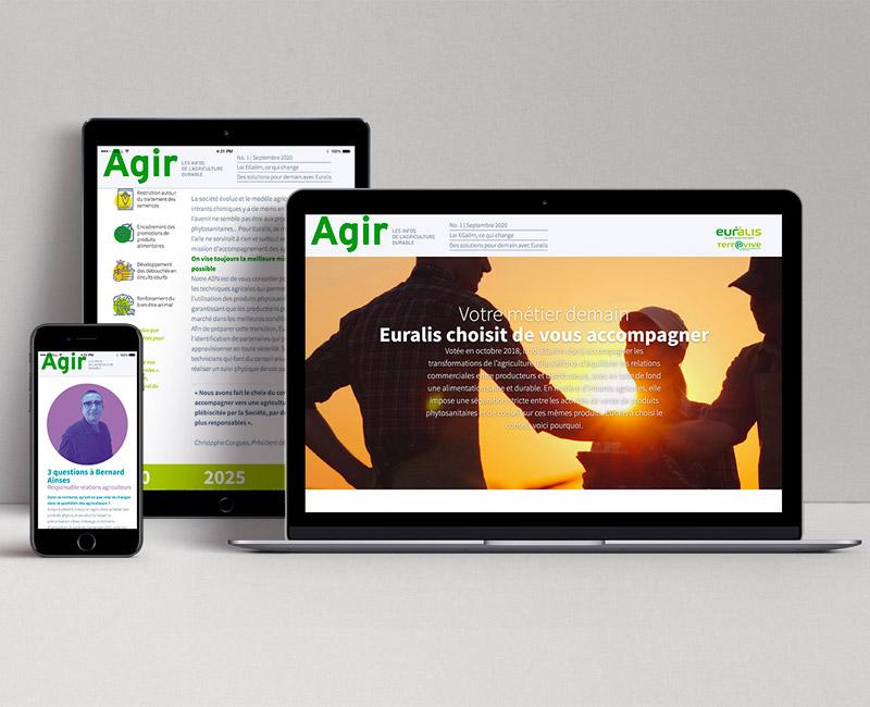 AGIR - Euralis Newsletter digital responsive